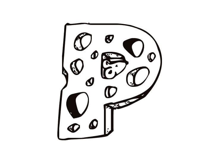 moldes da letra p para imprimir