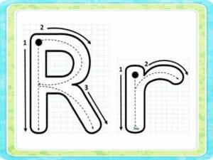 moldes da letra r para colorir