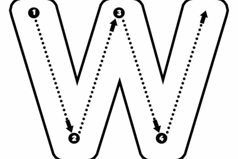 moldes da letra w para imprimir