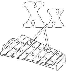 moldes da letra x para imprimir
