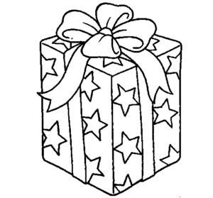 presentes natalinos para colorir