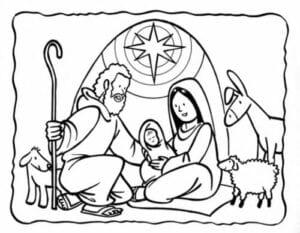 presepio para colorir simbolos natalinos