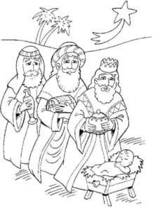 reis magos para colorir simbolo de natal