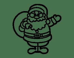 simbolo de natal para colorir papai noel