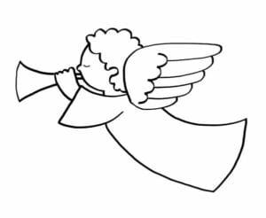 simbolo natalino anjo para pintar
