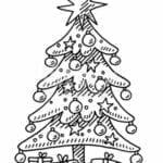 simbolo natalino para colorir arvore
