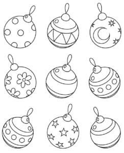 simbolos de natal para colorir
