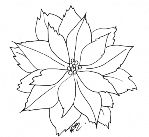 simbolos de natal para colorir flor de pascoa