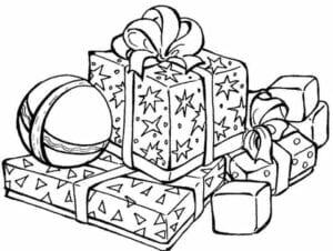 simbolos de natal para colorir presentes