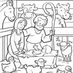 simbolos do natal presepio para colorir