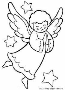 simbolos natalinos para colorir anjo