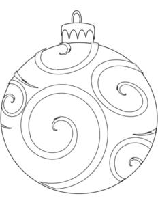 simbolos natalinos para colorir bolas