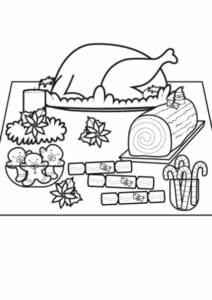 simbolos natalinos para colorir ceia
