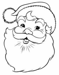 simbolos natalinos para colorir papai noel