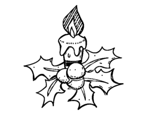 simbolos natalinos para colorir vela