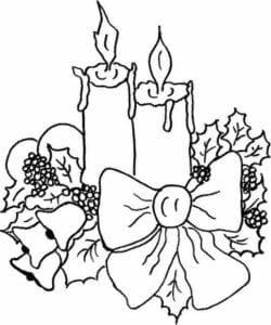 vela natalina para colorir