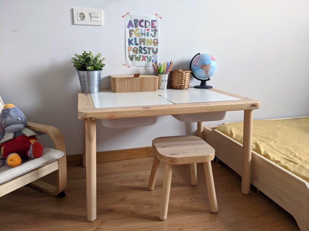 mesa montessoriana de experimentacao ikea