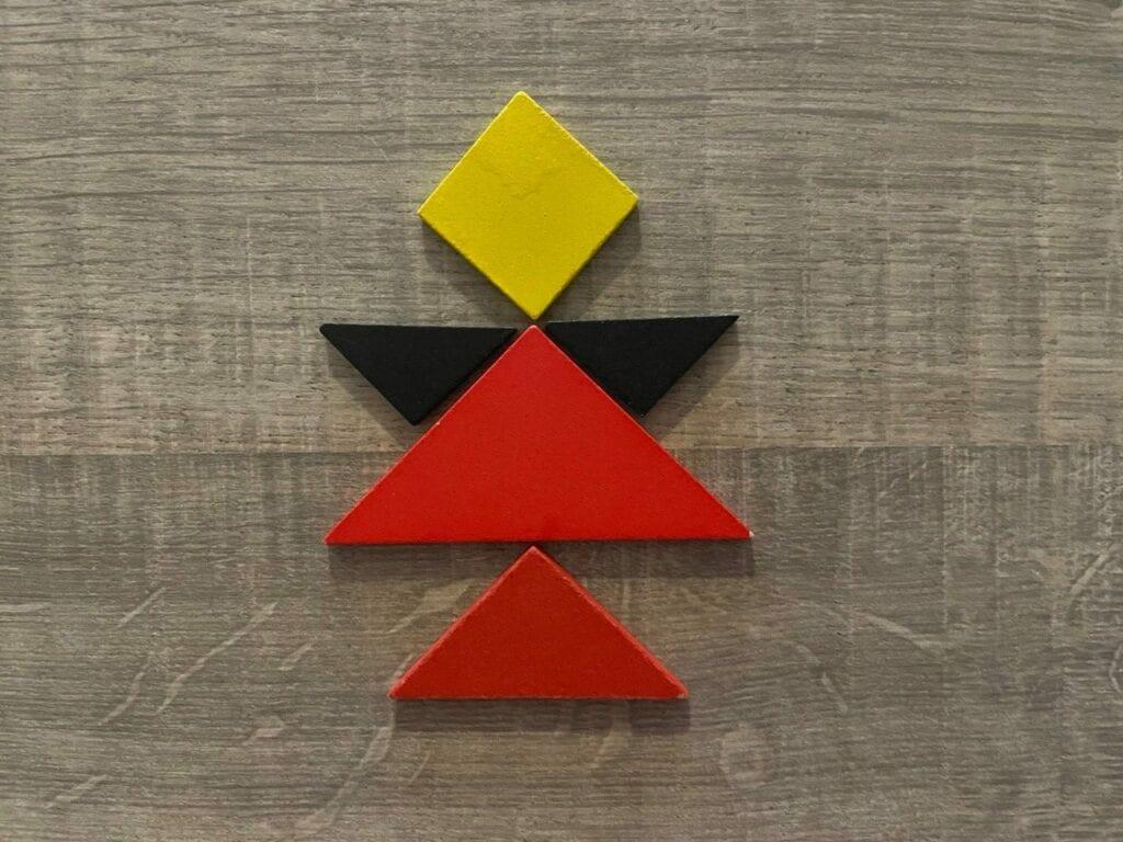 anjo de natal tangram