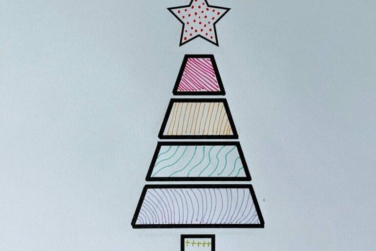 arvore de natal geometrica