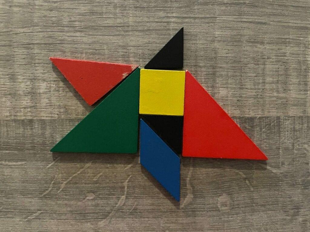 estrela de natal tangram