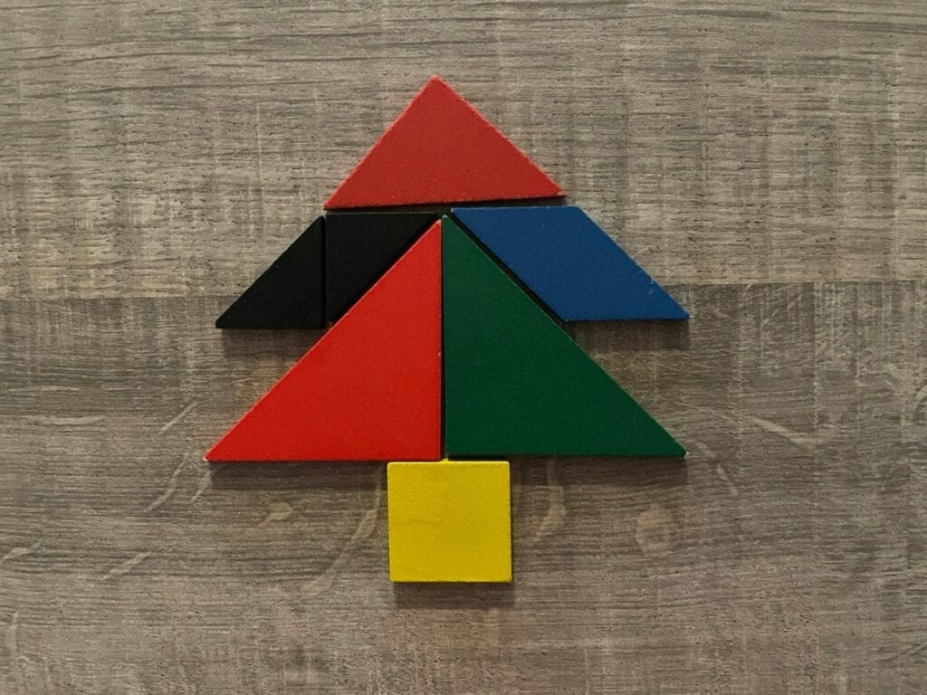 figuras natalinas com tangram