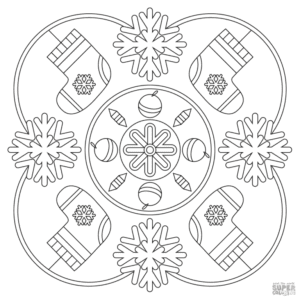 imagens de mandalas de natal para colorir