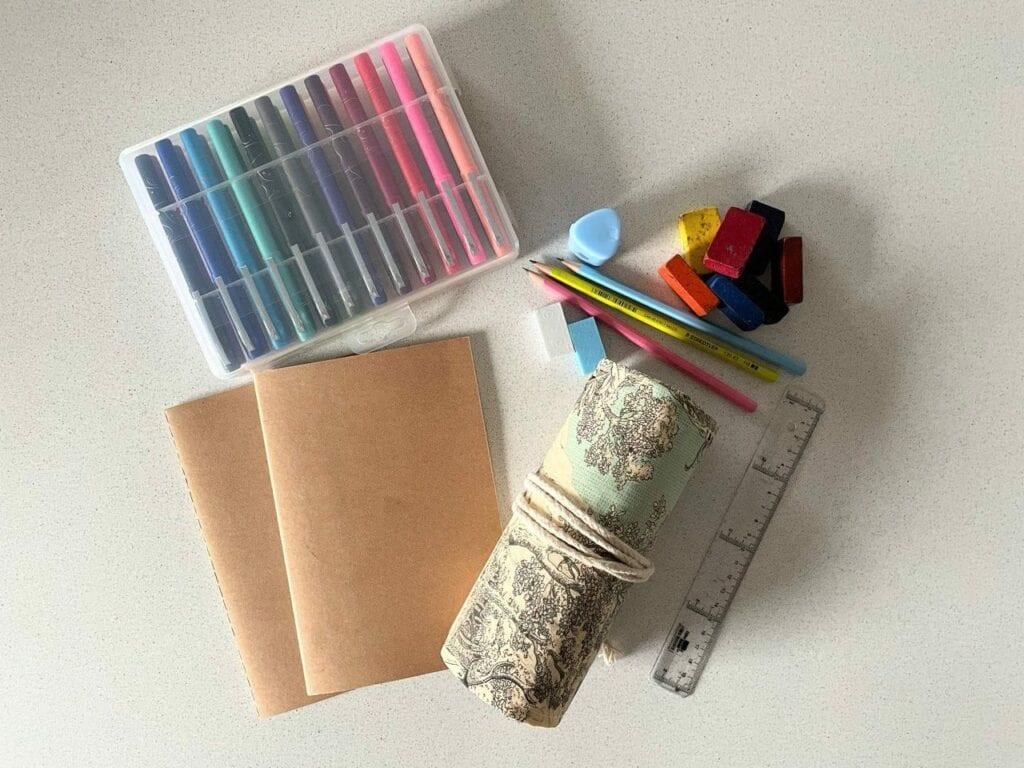 kit de artes material escoalr