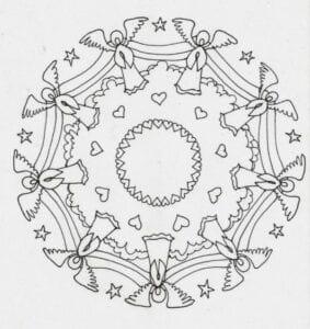 mandalas de anjos para imprimir