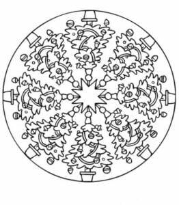 mandalas de arvores de natal para colorir