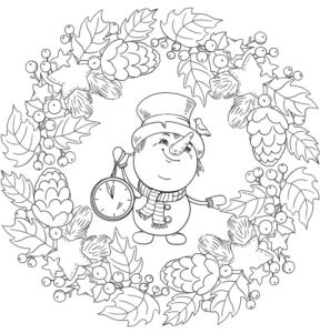 mandalas de natal bonitas para colorir