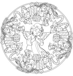 mandalas de natal com anjos para imprimir