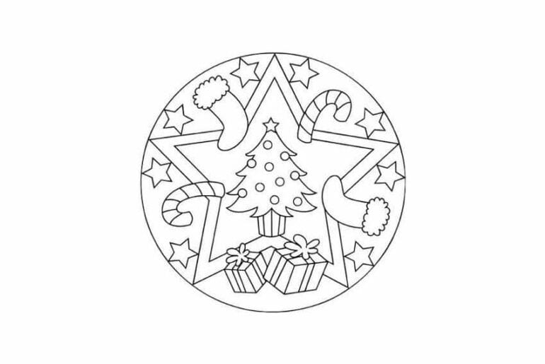 mandalas de natal para colorir