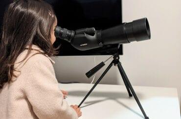 ver a lua pelo telescopio