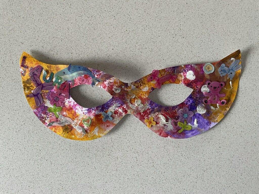 mascara de carnaval atividade de pintura