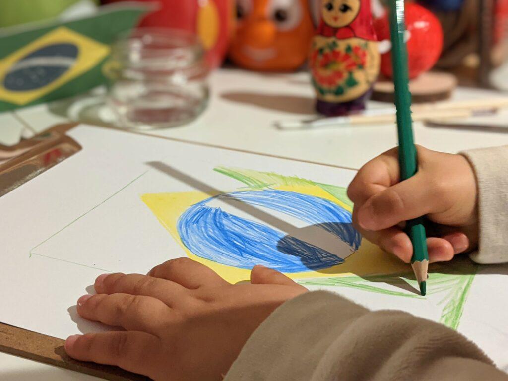 atividade as cores e formas da bandeira do brasil