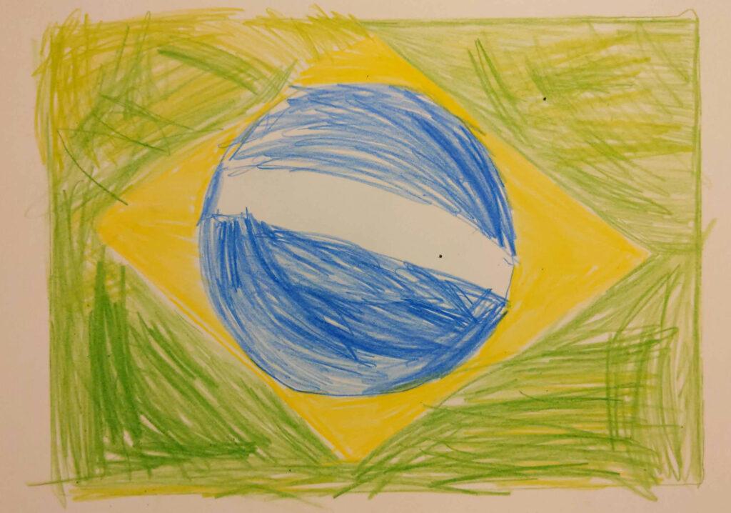 atividade com as cores da bandeira do brasil