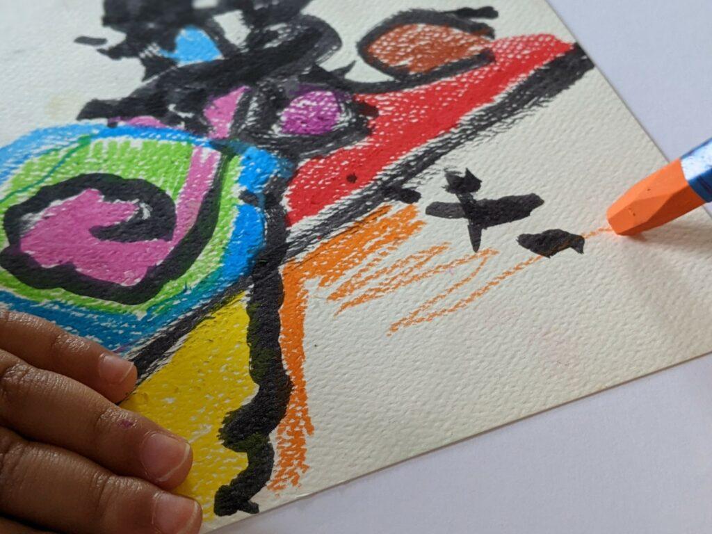 atividade de artes pinturas cegas tomie ohtake