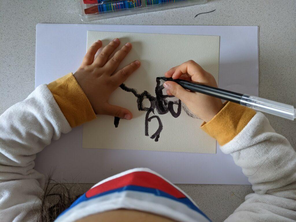 atividade de pinturas cegas