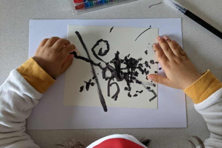 atividade pinturas cegas