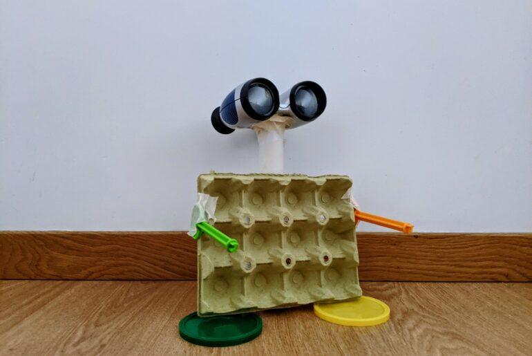 brincar com material reciclado criatividade