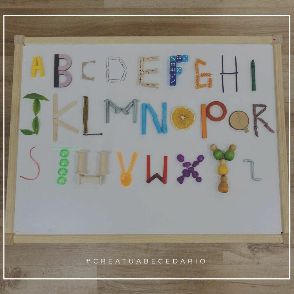 criar as letras do alfabeto