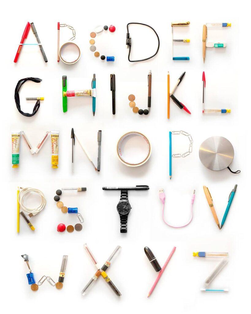 ensinar as letras do alfabeto brincando