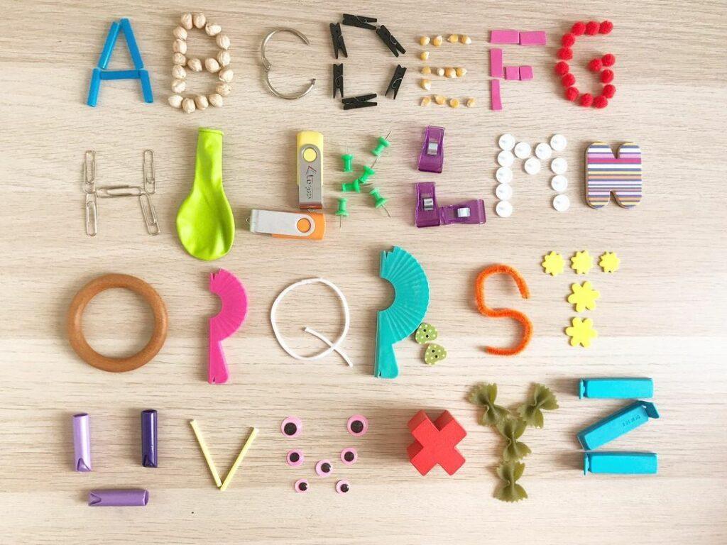 fazer alfabeto com pecas soltas
