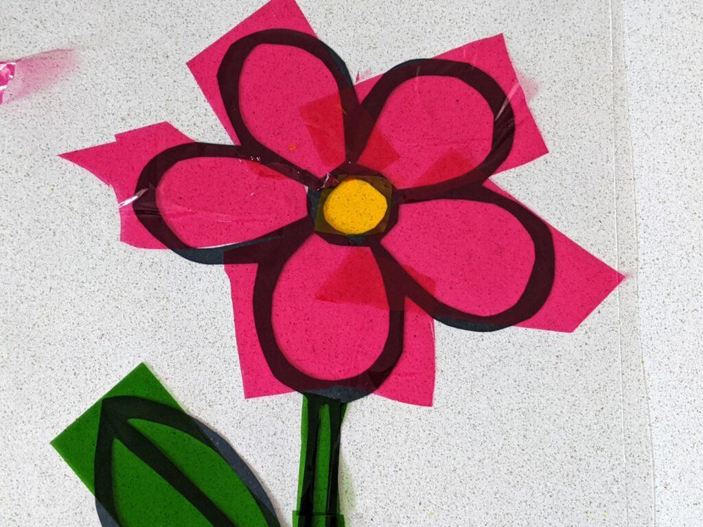 flor de papel celofane