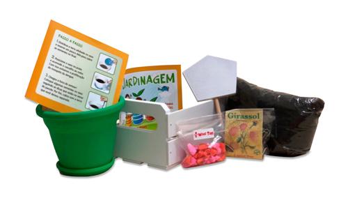 kit jardinagem infantil