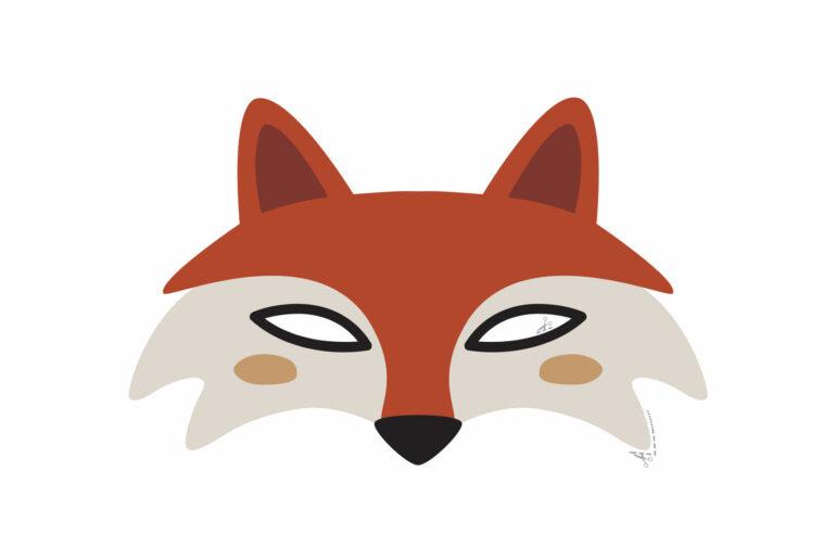 mascaras de animais coloridas para imprimir e recortar