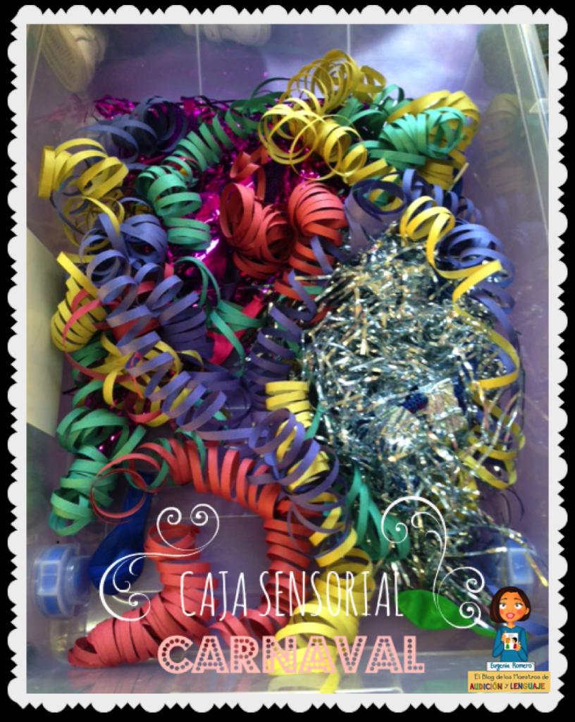 mesa sensorial de carnaval