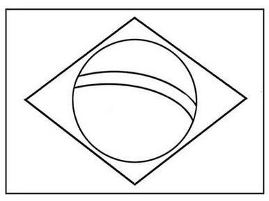 molde da bandeira do brasil para imprimir