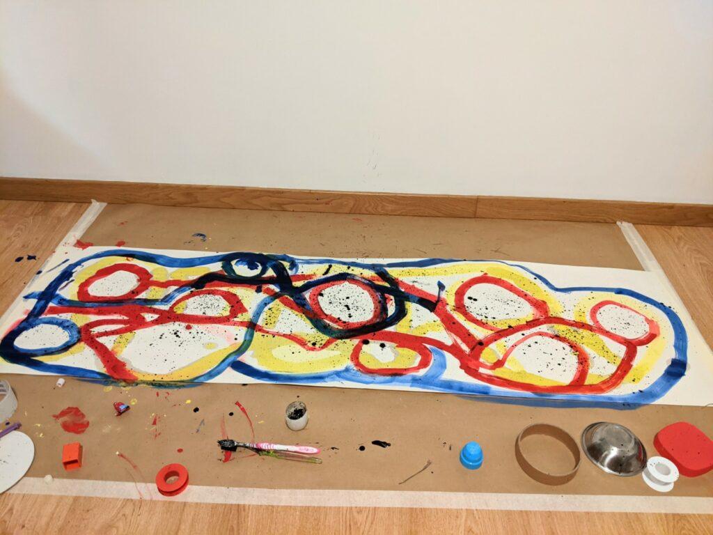 oficina de arte infantil de pintura