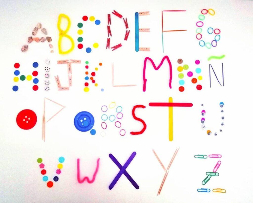 recurso educativo para ensinar o alfabeto